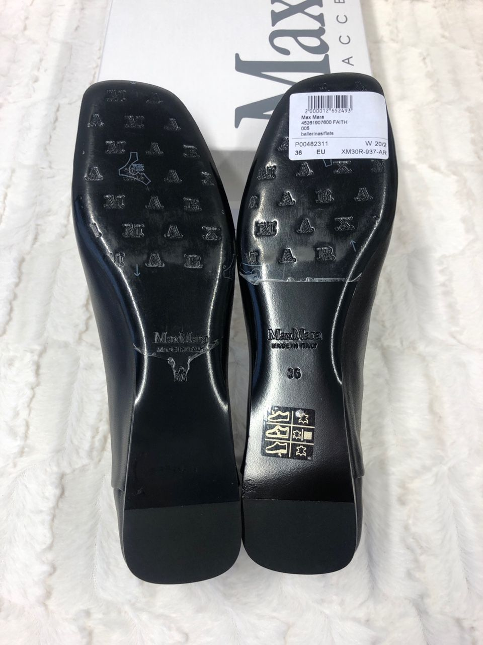 Max Mara Faith leather ballet flats P00482311