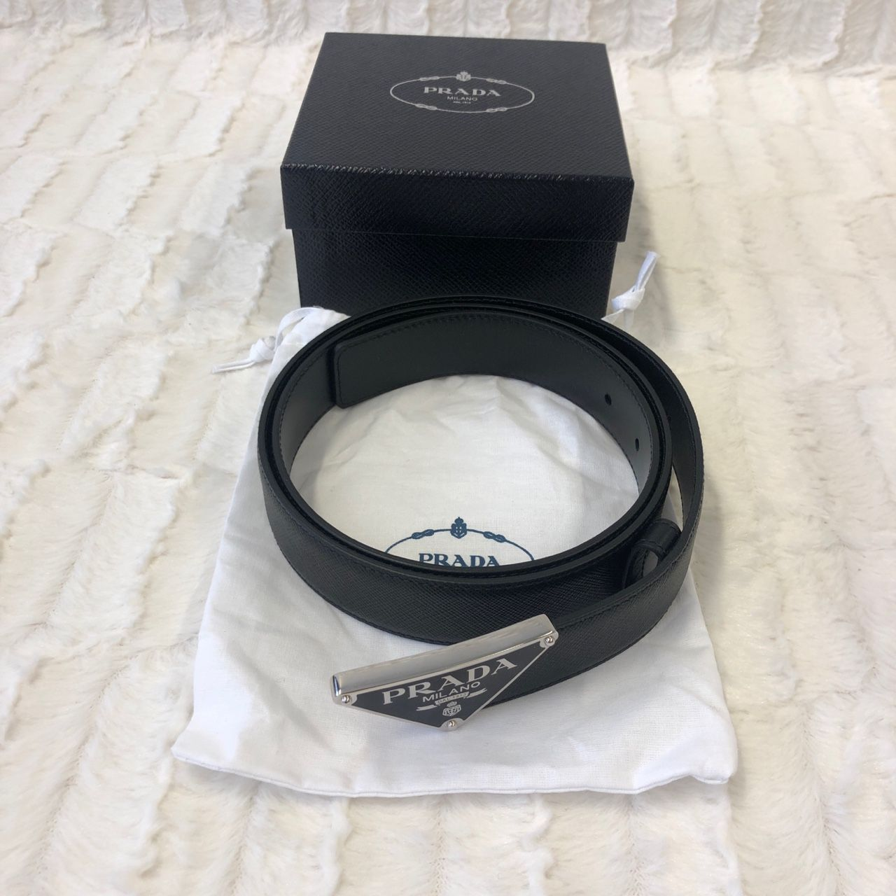 Prada Saffiano Leather Belt 2CM217_053_F0002